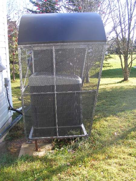 Covers And Shelters : Heat pump shelters able canvas