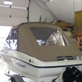 Boat cover - Dodger and Bimini with slant back